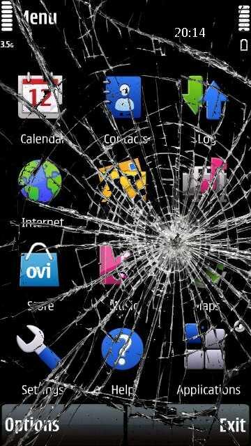 nokia aplicaciones pantalla rota