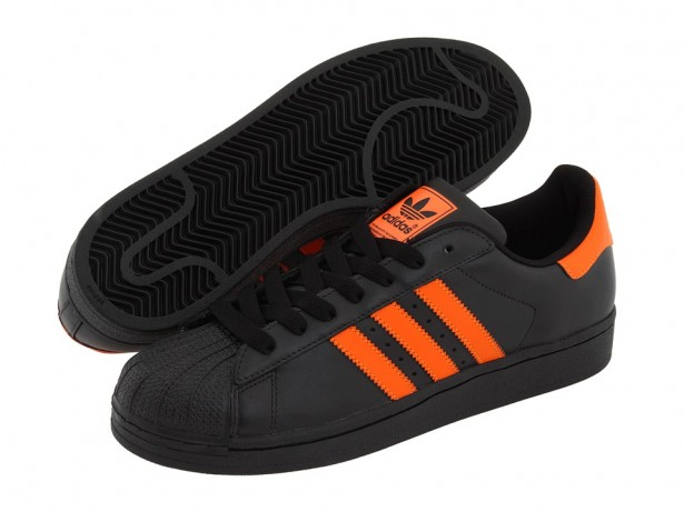 Adidas Superstar Black And Orange