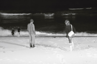 foto  Minuit sur la plage, Espinho - Portugal, midnight on the beach, photo dominique houcmant, goldo graphisme
