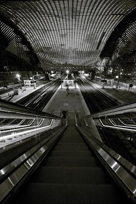 gare euro-TGV des guillemins à Liège, architecte Santiago Calatrava, photo © dominique houcmant