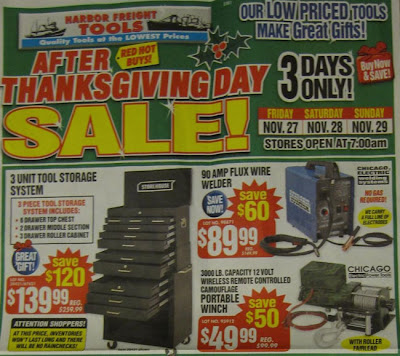 Here's a page from the Harbor Freight Tools Black Friday Circular: