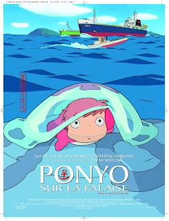 affiche de ponyo sur la falaise - gake no ue no ponyo