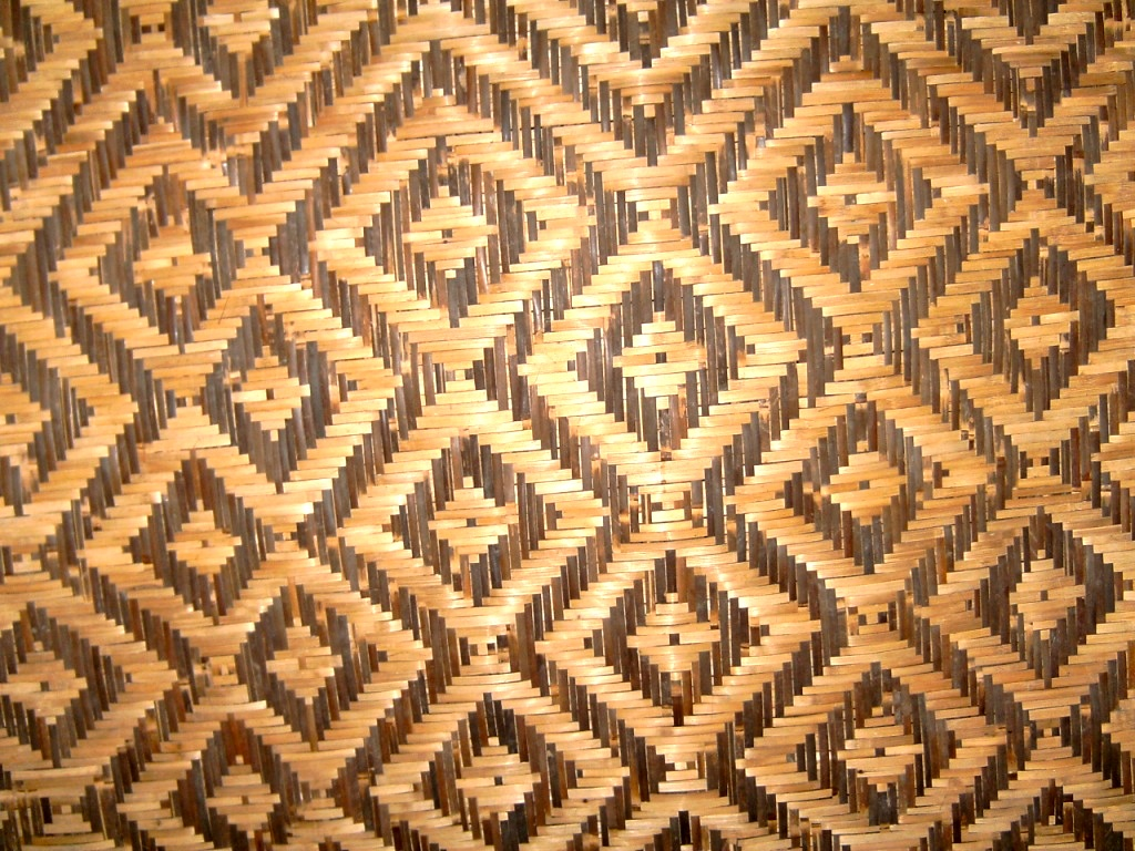 Indonesian Traditional Bamboo Wall
