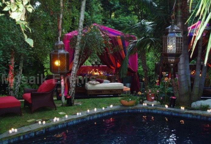 wedding decoration poolside wedding decor. Black Bedroom Furniture Sets. Home Design Ideas