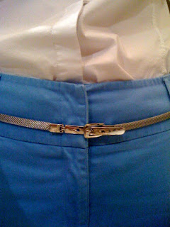 silver belt @ Brittany's Cleverly Titled Blog