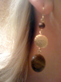 brown dangle earrings @ Brittany's Cleverly Titled Blog