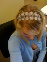 cute gray headband @ Brittany's Cleverly Titled Blog