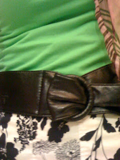wide black belt @ Brittany's Cleverly Titled Blog