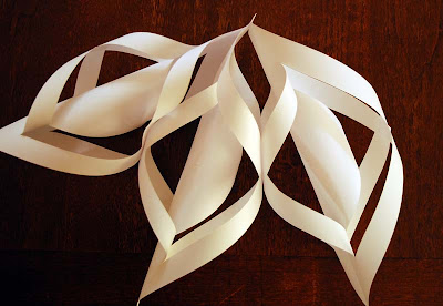 christmas ornament: paper snowflake tutorial