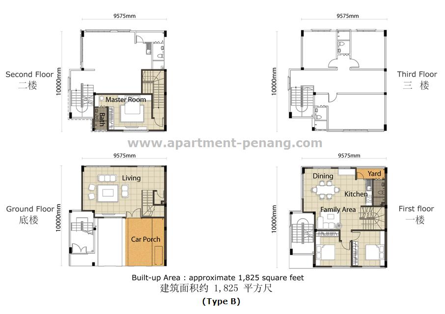 Suria Vista Townhouse Apartment Penang Com