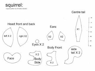 pattern squirrel 725873 Canguru, dinossauro, esquilo, formiga, jacaré, rena, alce, tudo em feltro para crianças