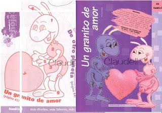 formiga+2 729527 Canguru, dinossauro, esquilo, formiga, jacaré, rena, alce, tudo em feltro para crianças