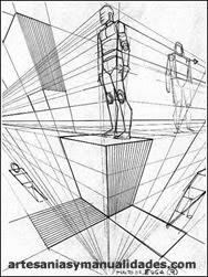 dibujo tecnico perspectiva conica