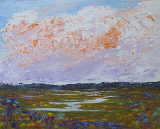 original acrylic painting of marshland by atul pande