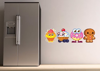 Moshi Monsters seven feet tall wall graphics
