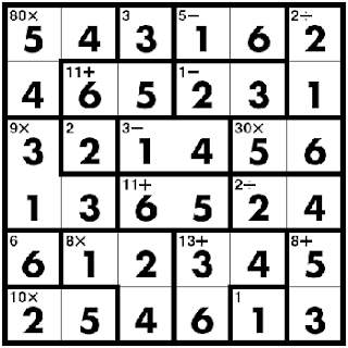 kenken sudoku killer game