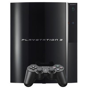 playstation 3 console image black