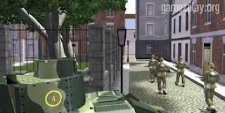 tanks and soldiers enter town square