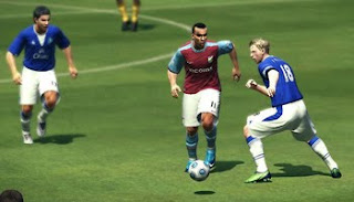 Editing premier league PES 2009 player on field with football