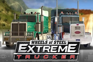 two trucks with game logo below