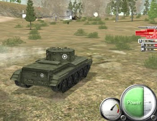 tank in battle scene
