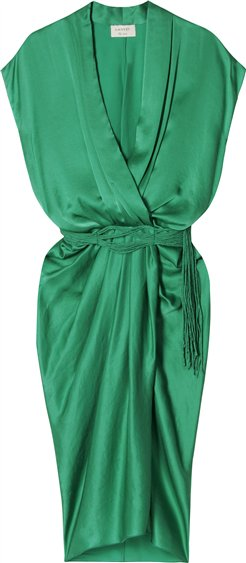 draped front dress - Green Lanvin