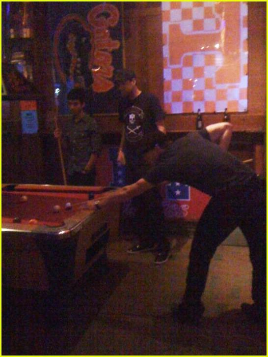 Joe Jonas Touching Ashley Greene 39 S Butt While Playing Pool Disney Star Universe