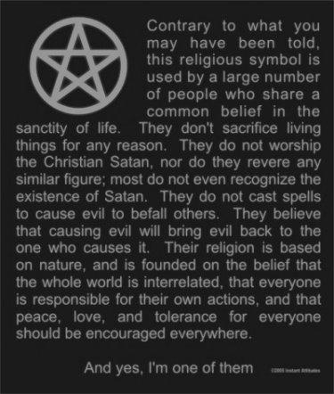 """Wicca (que também é conhecida como a """"Arte dos Sábios"""" ou simplesmente """" A Arte"""")"""