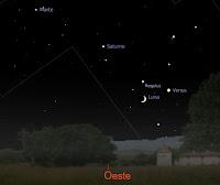 Haz clic encima de la imagen para verla mas grande - Aspecto del horizonte oeste el domingo 2 de agosto poco después de la puesta de Sol.