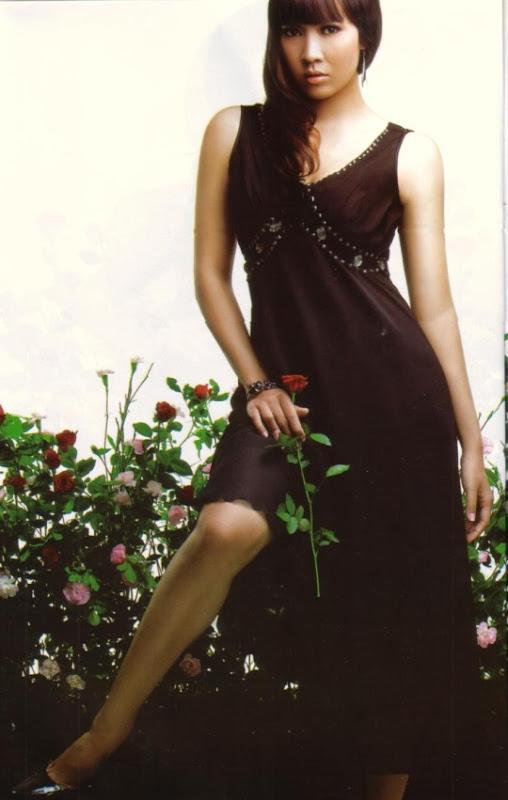 Sexy Myanmar Model Moe Hay Ko Black Dress