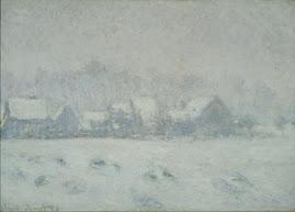 snow at giverny
