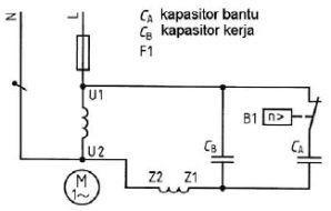 Motor listrik ac satu fasa dunia listrik pengawatan dengan dua kapasitor cheapraybanclubmaster Image collections