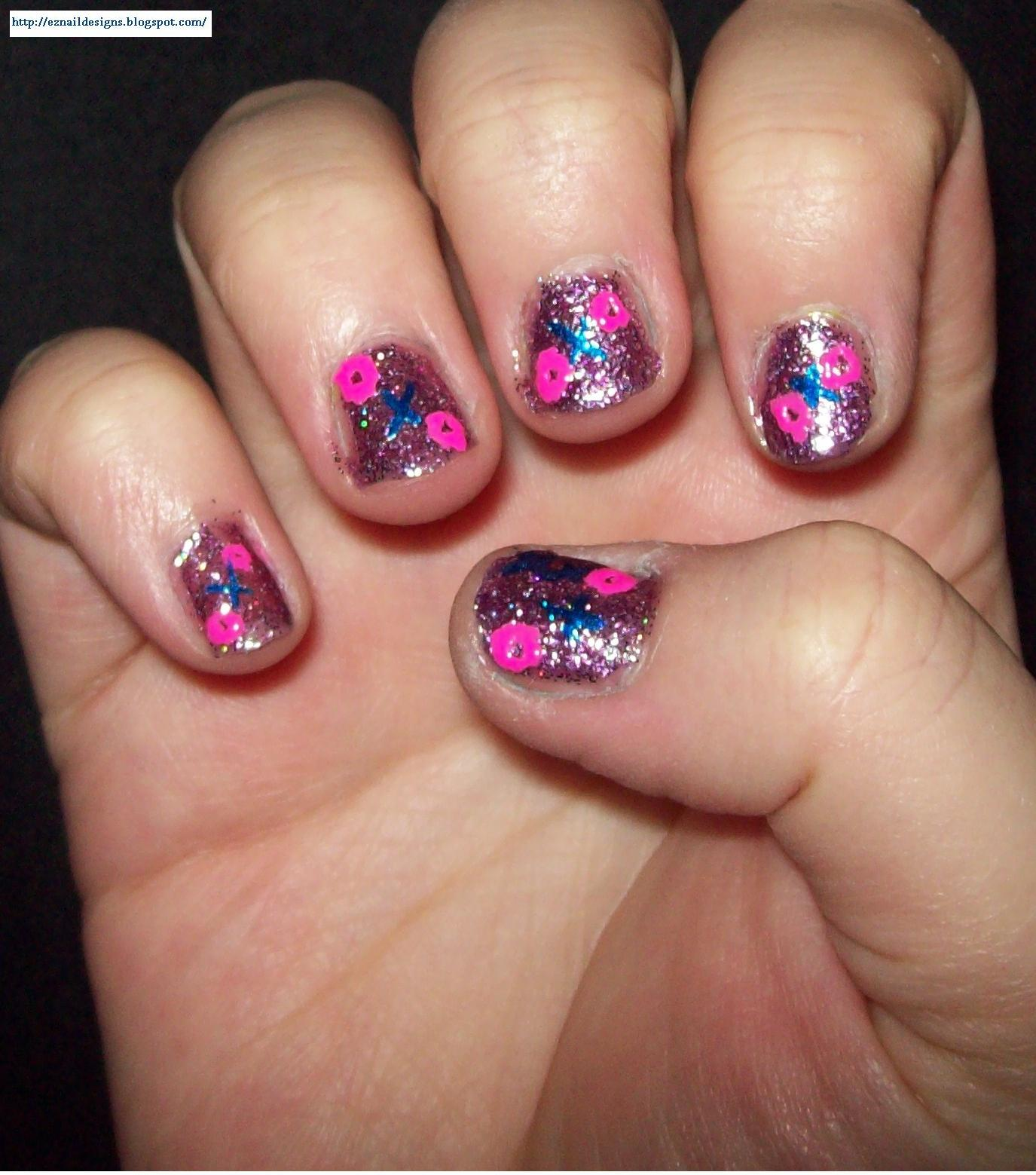 Ez Nail Designs Xs And Os Nail Design For Valentines Day