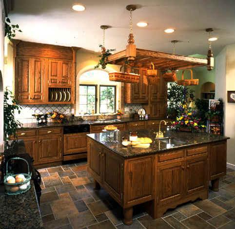 A Cozinha com adorno para a cestaria.
