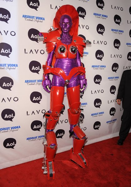 Heidi Klum's Halloween Party 2010. Heidi was a robot at the annual event.