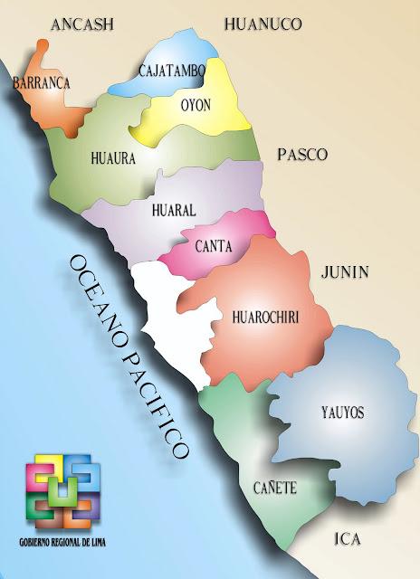 Mapa Región Lima