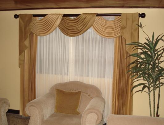 Dise os y decoraci n de cortinas y muebles los mejores dise os en cortinas en costa rica - Cortinas elegantes para sala ...