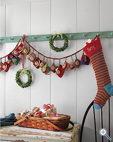 Knitting Pattern Christmas Advent Calendar : contented me: i want it now: knitted advent calendar