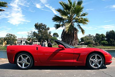 2006 Corvette Convertible Red