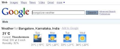 Як знайти погоду в Google