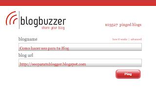 Como hacer ping a tu blog, BlogBuzzer