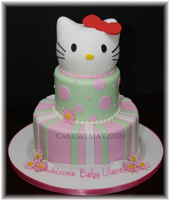 Lia wanted something sweet delicate with a Hello Kitty theme for a Baby