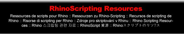 Rhinoscripting Resources