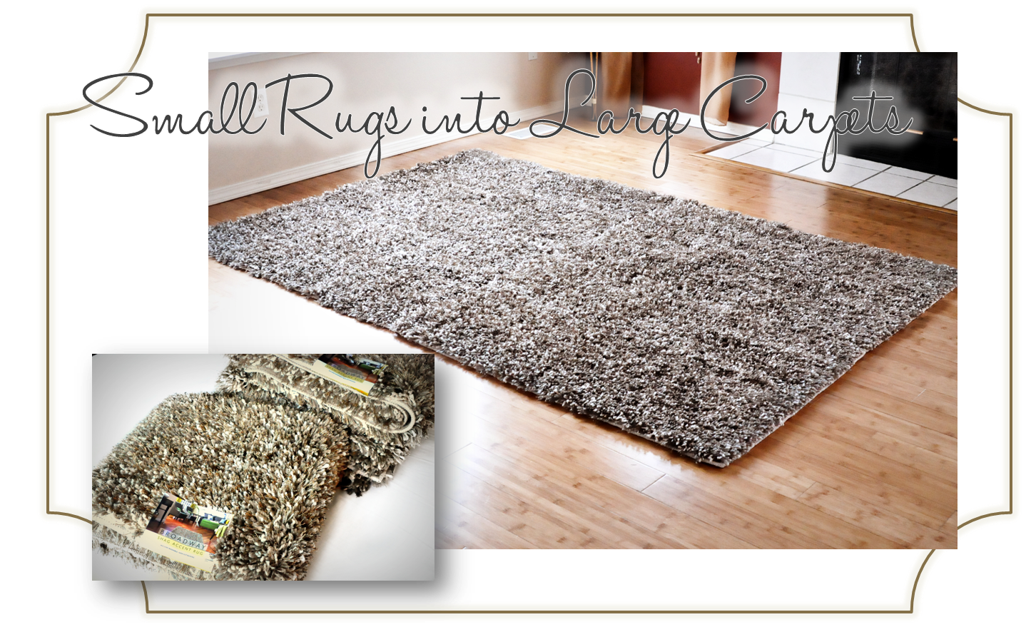 Shag Area Rugs For Living Room finding my aloha: {diy} how to turn accent rugs into large area rugs