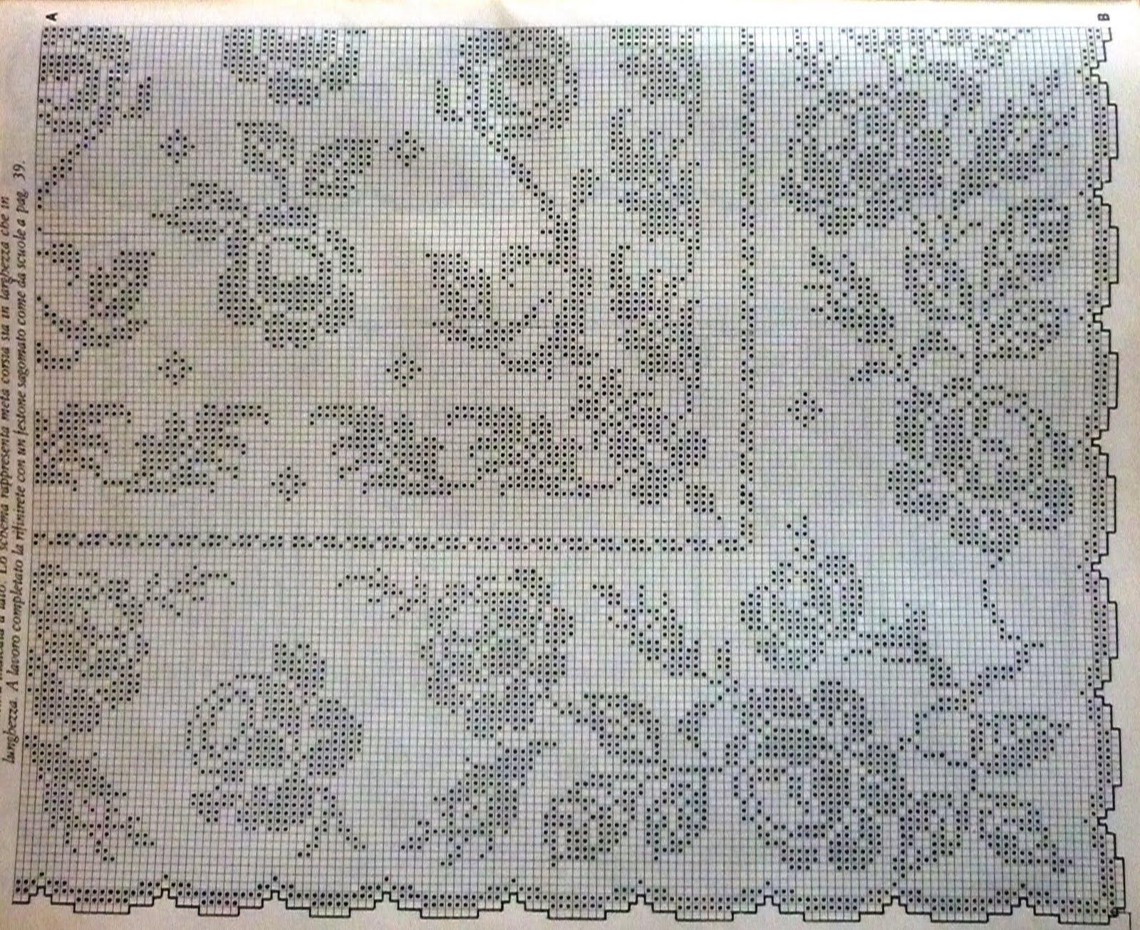 Прямоугольная скатерть филейное вязание 20
