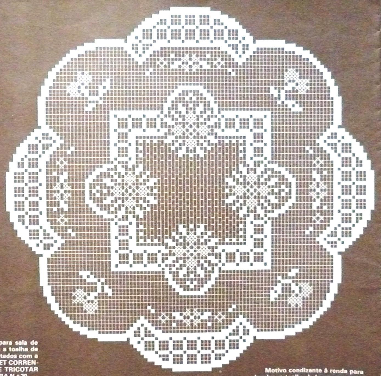 Da Revista Rendas De Croche N   45 Jogo De Naperons