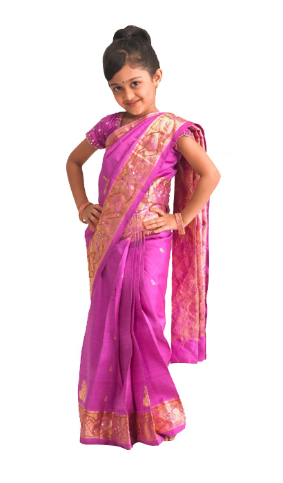 So Cute Baby Girl in Saree - Amazing Kids