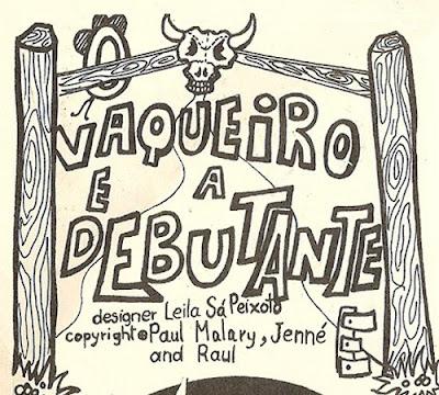 O Vaqueiro e a Debutante, encarte do LP Guerra Civil. História em Quadrinhos da música: arte de Leila Sá Peixoto