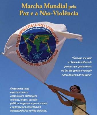 Participe da Marcha Mundial Pela Paz e a Não-Violência