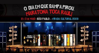 Cartaz Virada Cultural, homenagem a Raul Seixas